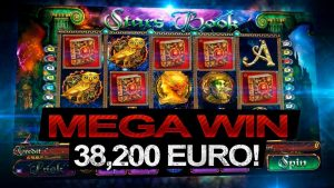 ** MEGA WIN ** with book of stars casino slot online – 38,200 EUROS!