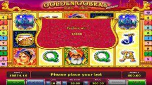 Golden Cobras super WIN  €18k. Bonus Game!