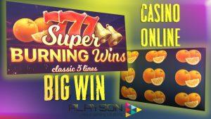CASINO ONLINE | SUPER BURNING WINS slot | BIG WIN