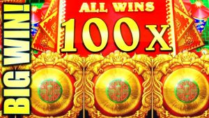 ★100X MULTIPLIER!! BIG WIN!★ DA JI DA LI SAPPHIRE WINS Slot Machine Bonus (AGS)