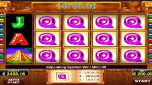 Book Of Aztec velké vítězství. Bonusové hry - 200 EURO / SÁZKA!
