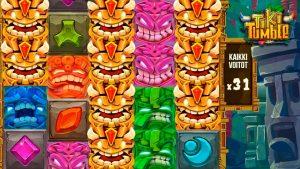 SUPER MEGA BIG WIN ON TIKI TUMBLE (Push Gaming)