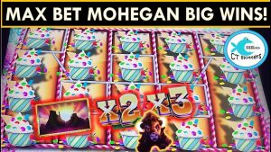 MAX BETTING @ MOHEGAN SUN CASINO! BUFFALO DIAMOND SLOT MACHINE BIG WIN! SUGAR HITS @ $6 BETS!