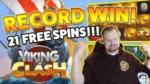 기록 승리! Viking Clash 큰 승리 - 카지노 - 거대한 승리 (온라인 카지노)