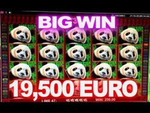 Big Panda casino slot MEGA WIN  19,500 EUR!