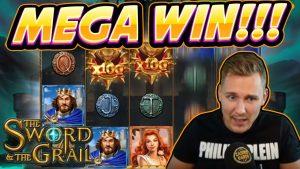 MEGA WIN !!! Қылыш және Grail BIG WIN - Casinodaddy-тен казино ойындары