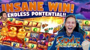 MEGA WIN! Genie Jackpots BIG WIN - BUDURAN WIN - wasanni na Casino (ramukan kan layi) daga rafin LIVE