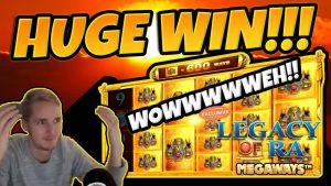МАССИВНЫЙ ВЫИГРЫШ! Legacy of Ra Megaways BIG WIN - Эпическая победа в играх казино ЭКСКЛЮЗИВ на вечеринке