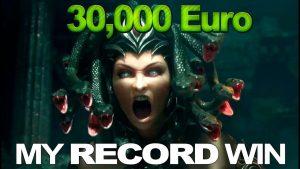 Mənim rekordum Win - MEDUSA 30,000 yuvasında 2 EUR