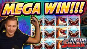 ENORME WINNEN !!! Razor Shark BIG WIN - Casinospel uit Casinodaddy-stroom
