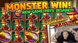 HUGE WIN!! Da Vincis Treasure BIG WIN – Online slots from Casino LIVE stream