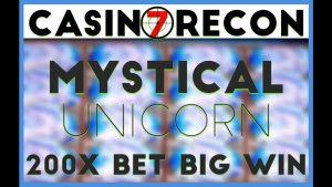 Full Screen Mystical Unicorn Slots – 200X BIG WIN || Casino Recon