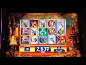 Sidabrinio kalavijo lošimo automatų premija Retriggeris Big Win 100X Niujorko kazino Las Vegase