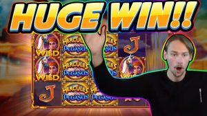 """Didžiulis laimėjimas! """"Hercules and Pegasus"""" BIG WIN - NAUJAS SLOTAS iš """"Pragmatic"""" - kazino žaidimas iš """"Casinodaddy"""""""