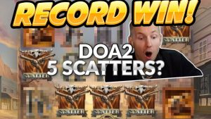 RECORD WIN!! Dead or Alive 2 BIG WIN – HUGE WIN from CasinoDaddy Live Stream