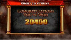 Spartan Streak Big Bonus game win €20.400