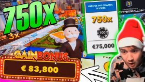 Record win 75.000€ on Monopoly live – Top 5 Big wins in casino slot