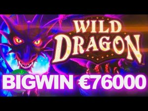 My mega big win in 2019. WILD DRAGON SLOT WIN – €76000