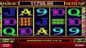 "Amatic provider, online slot: ""Magic scatter"" Record big win 126500"