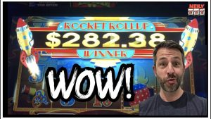 THIS ROCKET CAME OUT OF NO WHERE AND GAVE ME A BIG WIN ON POP N PAYS SLOT!