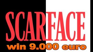 SUPER BIG WIN! €9000 scarface slot!