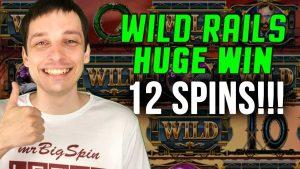 WILD RAILS SLOT HUGE WIN AT CASINO!