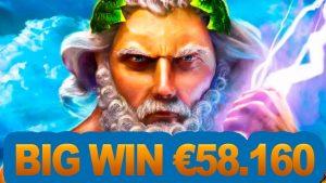zeus slot BIG win – €58160