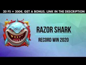 RAZOR SHARK SLOT.  BIG WIN RAZOR SHARK. CASINO 2020