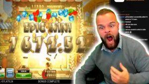 DIDŽIAUSIAJI TIESIOGINIAI KAZINO LAIMAI # 4 - didelis laimėjimas ir lošimų automatas