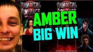 IMMORTAL ROMANCE GROTE WINST op AMBER - online casinospellen