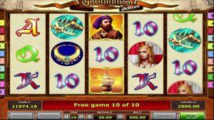Columbus onloine casino yuvasında SUPER BIG WIN 9,500 avro