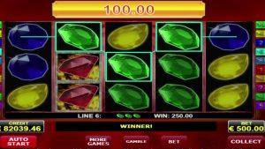 Hete diamanten AMATIC aanbieder online casino slot MEGA WIN - € 98,700