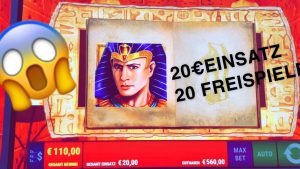 MAX BET 20€ Einsatz Ramses Book / Online Casino Slot Big WIN!? 2020 Slots Play on TV Freespins