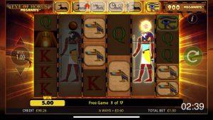 Eye of Horus megaways, Mega Huge Win loksins á stærri hlut