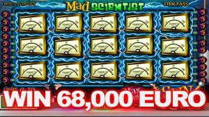 Absolute big win 68000 EURO in  mad scientist casino slot!