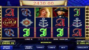 Admiral Nelson big win online casino slot – €86,300