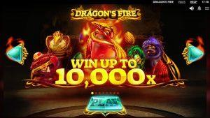 Draakonid tulistavad suurt võitu - mäng, mida mängib Red Tiger Gaming.