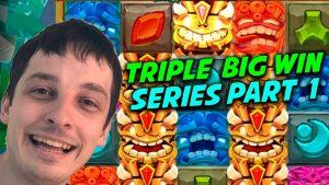 TRIPLE BIG WIN: TIKI TUMBLE, EXTRA JUICY, BLAZE OF RA CASINO SLOTS