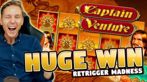 HUGE WIN!! Captain Venture Big Win – Casino Games – Slots (10€ bet)