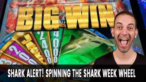 🦈 BIG Win with a BIG Shark for Shark Week! 🎰 LAS VEGAS SLOTS BABY!
