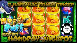 🔒HIGH LIMIT Lock It Link Huff N' Puff JACKPOT HANDPAY 🔒$50 BONUS ROUND Slot Machine