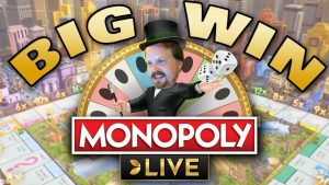 BIG WIN on Monopoly Live (4+ rolls)