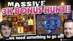 Online Slots – £3000 Bonus Hunt Big wins and bonus rounds
