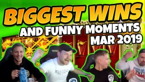 Biggest wins and Funny moments of CasinoDaddy March 2019 (Casino Twitch & Youtube)