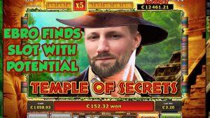 ניצחון גדול!!!!! סבב בונוס של Tempel of Secrets מ- LIVE STREAM (משחקי קזינו)
