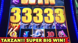 ⭐️TARZAN SUPER BIG WIN⭐️AMAZING BONUS з Retriggered! Слот для казіно ў Лас-Вегасе