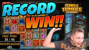 RECORD WIN !!!!! Tempel Tumble MEGA WIN - Kasinesch Spiller vu CasinoDaddy