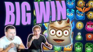 Big Win on Reactoonz Slot - คาสิโนสตรีมชนะใหญ่