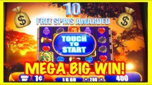HUGE MEGA BIG WIN!!! *MAX BET!* King of Africa Slot Machine Bonus!