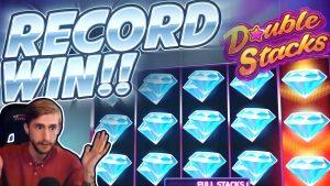 TIRRAKORDJA IRBAĦ !!!! Double Stacks Netent BIG WIN - INSANE WIN fuq Logħba tal-Casino